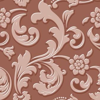 Elemento de padrão sem emenda de flor volumétrica