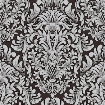 Elemento de padrão sem emenda do damasco
