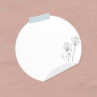 Elemento de papel de círculo de vetor de adesivos goodnotes no estilo memphis