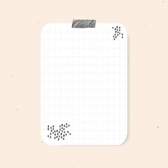 Elemento de papel quadriculado de vetor de adesivos de planejador no estilo memphis