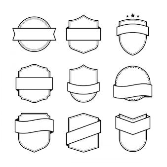 Elemento de projeto de emblema em branco