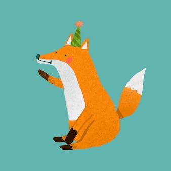 Elemento de raposa fofa e festiva