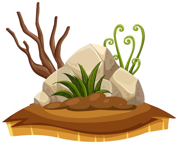 Elemento de terra de seca isolado