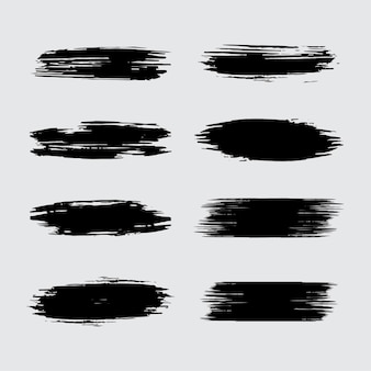 Elemento de traçado de pincel preto