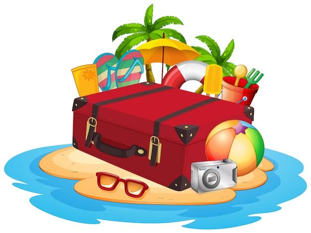 Elemento de viagem na ilha