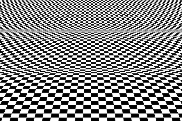 Elemento decorativo do projeto do teste padrão quadrado abstrato da arte op do fundo da malha.