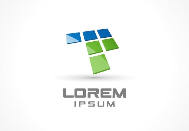 Elemento do ícone. idéia abstrata logotipo para empresa de negócios. conceitos de computador, web, tecnologia, internet e aplicativos móveis. pictograma para o modelo de identidade corporativa. banco de ilustração