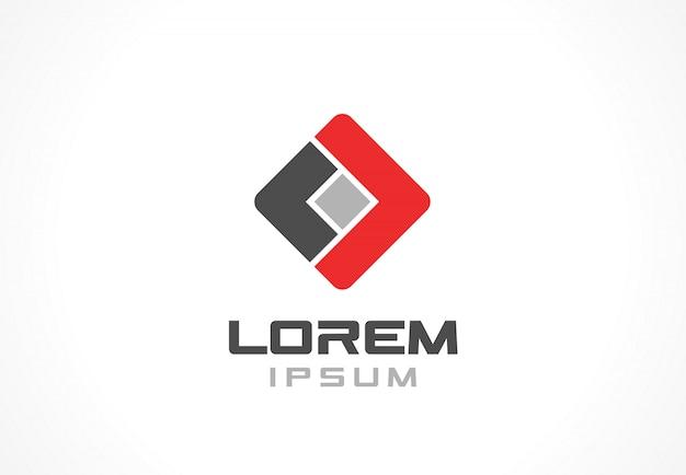Elemento do ícone. idéia abstrata logotipo para empresa de negócios. conceitos de finanças, comunicação, tecnologia e conexão. pictograma para o modelo de identidade corporativa. banco de ilustração