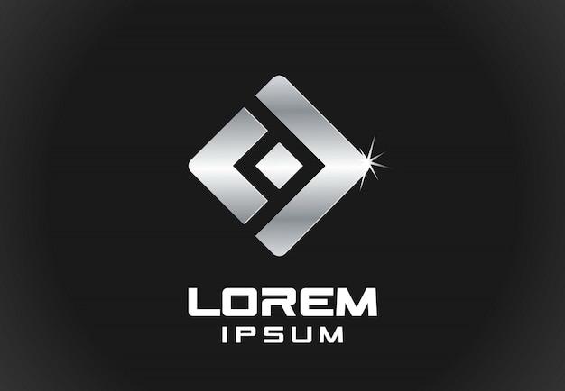 Elemento do ícone. idéia abstrata logotipo para empresa de negócios. finanças, comunicação, tecnologia de metal e conceitos de conexão. pictograma para o modelo de identidade corporativa. banco de ilustração