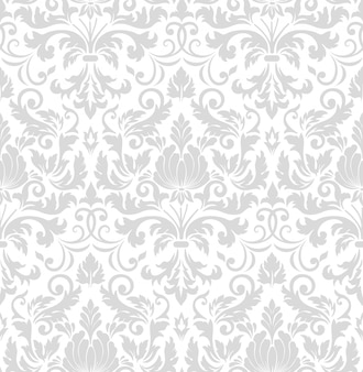 Elemento do teste padrão sem emenda do damasco. enfeite de damasco antiquado de luxo clássico