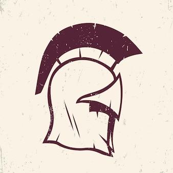 Elemento do vetor do logotipo do capacete espartano