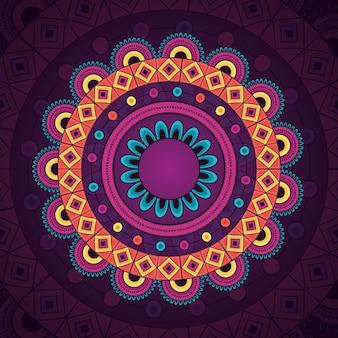 Elemento étnico decorativo vintage de mandala
