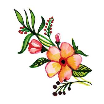 Elemento Floral Aquarela