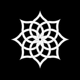 Elemento floral de papel para design