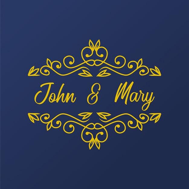 Elemento floral florish do casamento