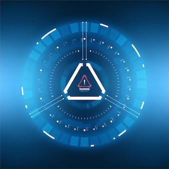 Elemento futurista do círculo do hud de ficção científica. tela de tecnologia de realidade virtual.