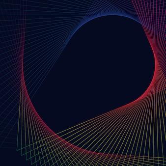 Elemento geométrico circular abstrato