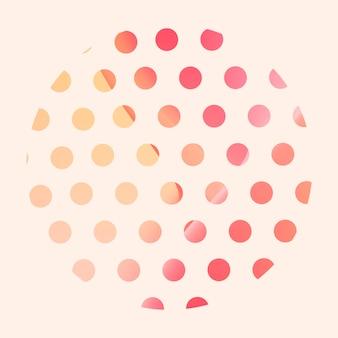Elemento gradiente redondo colorido