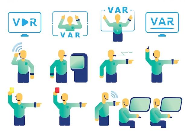 Elemento gráfico de árbitro assistente de vídeo