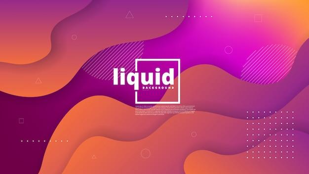 Elemento gráfico moderno abstrato. formas coloridas dinâmicas e ondas. abstrato de gradiente com fluindo formas líquidas