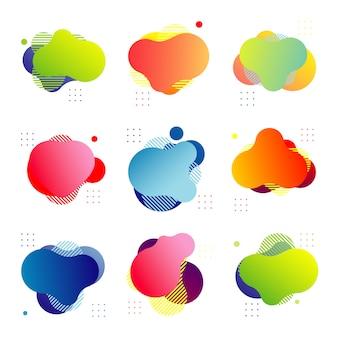 Elemento gráfico moderno abstrato
