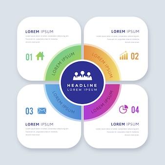 Elemento infográfico com opções