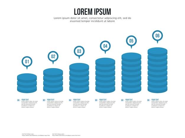 Elemento infográfico de lucro do tráfego e modelo de apresentação