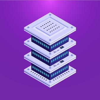 Elemento isométrico do servidor de banco de dados