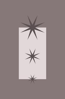 Elemento minimalista do ícone do grupo estrela boho para cartaz.