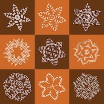 Elemento openwork para design, tecido de guardanapo