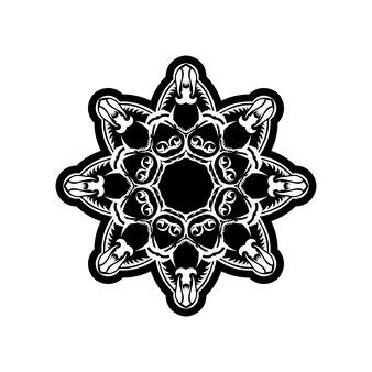 Elemento ornamentado para design. teste padrão ornamental para convites de casamento, cartões comemorativos. decoração tradicional em contraste. mandala.