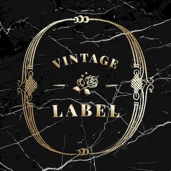 Elemento ornamental de distintivo de ouro vintage