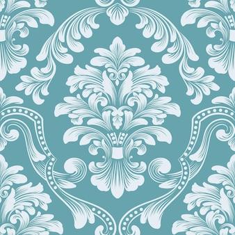 Elemento padrão sem emenda. ornamento clássico de luxo à moda antiga em damasco