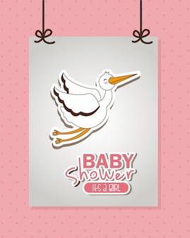 Elemento simples do chuveiro de bebê