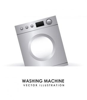 Elemento simples máquina de lavar roupa