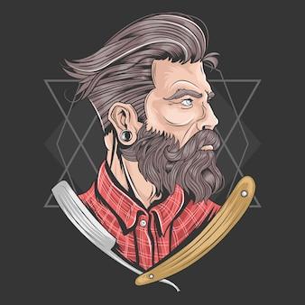 Elemento vetorial de barbeiro