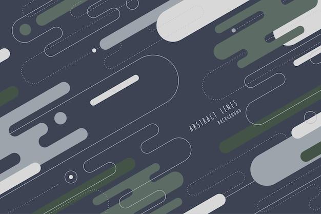 Elementos abstratos de linhas arredondadas design de padrão de estilo de cores