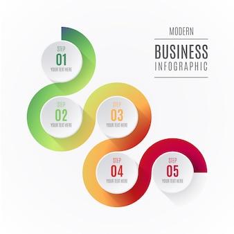 Elementos abstratos infográfico com passos