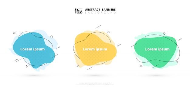 Elementos abstratos modernos panfleto de fundo decoração geométrica.