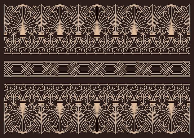 Elementos arquitetônicos de padrão horizontal sem costura