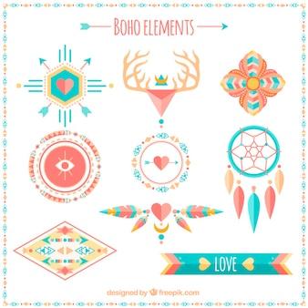 Elementos boho étnicos
