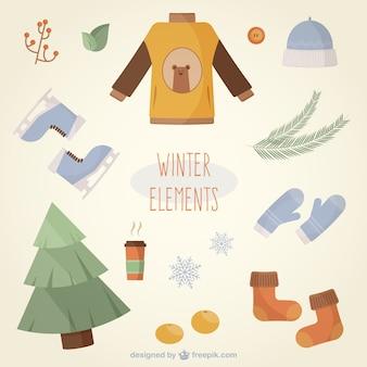 Elementos bonitos do inverno