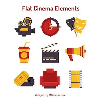 Elementos cinema necessárias no design plano