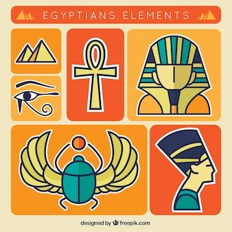 Elementos colecção egípcia