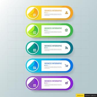 Elementos coloridos de infográficos de negócios