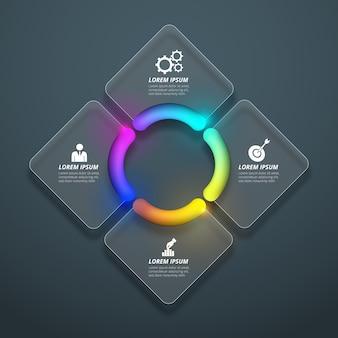 Elementos coloridos infográfico realista