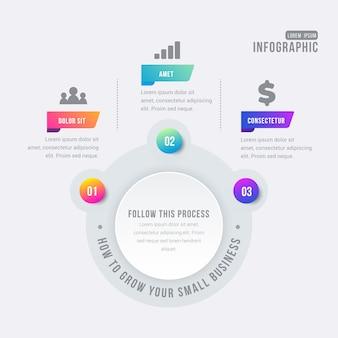 Elementos coloridos infográfico