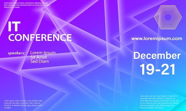 Elementos coloridos. modelo de design de conferência. desenho abstrato da capa.