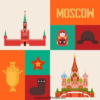 Elementos coloridos moscovo