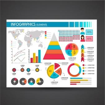 Elementos coloridos para infográficos